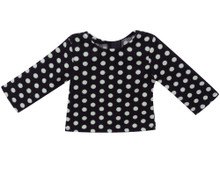 Black & White Polka Dot Sweater fits 18 Inch American Girl Dolls