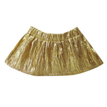 Gold Metallic Skirt w/Elastic Waistband