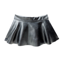 Black Stretch Leather Skirt fits 18 Inch American Girl Dolls