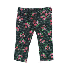 "Sophia's Black Floral Print Denim Jeans fits 18"" Dolls"