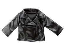 "Sophia's Black Leather 18"" Doll Jacket fits American Girl"