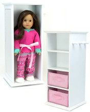 "Storage and Swivel Tower for 18"" Dolls"