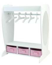 Clothing Rack, Mirror & 3 Basket Storage for 18 Inch Dolls