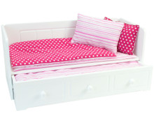 Day Bed, Bedding and Trundle Bed for 18 Inch Dolls
