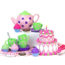 Tea Party Set & Dessert Items in Decorative Window Box