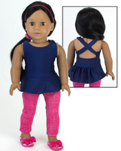 Workout Tank & Running Pants fits American Girl