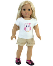 "2 Piece Shorts Set for 18"" Dolls fits American Doll Clothes"