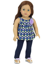 "18"" Doll 2 Piece Jeans Set Fits American Doll Pants"