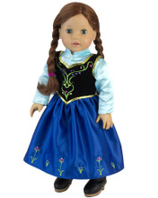 "Sophia's Nordic Princess Dress & Satin Blouse fits 18"" Dolls"
