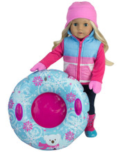 Winter Tubing Outfit & Snow Tube For 18 Inch Dolls