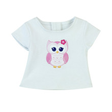 "Graphic Tee for 18"" Dolls Owl Graphic Tee Shirt fits American Doll Accessories"