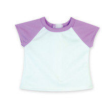18 Inch Doll Tee Lavender Baseball T fits American Girl Shirts
