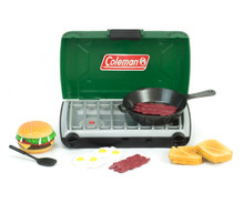 "Green Coleman® Camp Stove and Food Set for 18"" Dolls"