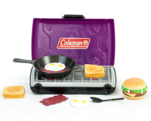 Purple Coleman® Camp Stove and Food Set for 18 Inch Dolls