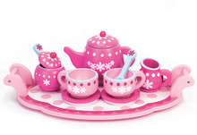 Children's Hand Painted 10 Piece Tea Set for Children 5+