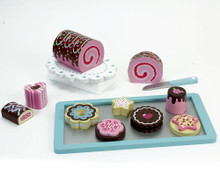 Children's Hand Painted 12 Piece Wooden Cakes & Cookies Set for Children 5+