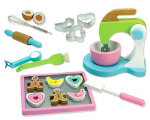 Hand Painted Wooden Cookie Baking Set for Children 5+