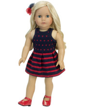 "Patriotic 18"" Doll Dress & Headband"