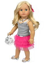 Tulle Skirt & Sequin Tank 4 Piece Skirt Set for 18 Inch Dolls
