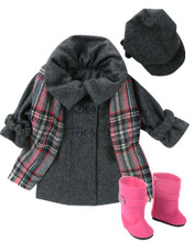 Winter Wool Coat Set for 18 Inch Dolls