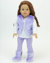 18 Inch Doll 4 Piece Vest & Leggings Set with Boots