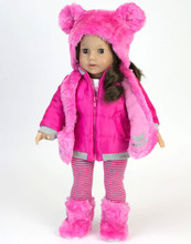 Sophia's Winter Coat and Hat Set fits 18 Inch Dolls
