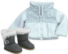 18 Inch Doll Nylon Jacket and Boots Set 2 Piece Set