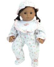 "15"" Baby Doll Floral Sleeper"