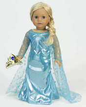 "Ice Princess Dress fits 18"" Dolls 3 Piece Set"