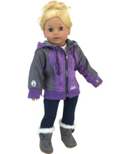 Sophia's Coleman® Nylon Hooded Jacket Fits 18 Inch Dolls