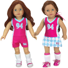 "18"" Doll Sports Uniform 3 Piece Set Fits American Girl"