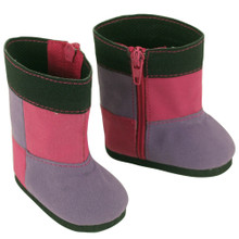 Suede Patchwork Boot