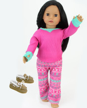 Sophia's Hot Pink Thermal PJ's Set fits 18 Inch Dolls