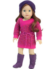 Knit Sweater Dress 2 Pc Set fits American Girl Doll Dresses