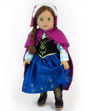 "Sophia's Nordic Princess Dress and Cape Set Fits 18"" Dolls"
