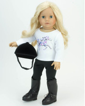 "Horseback Riding Practice Outfit for 18"" Dolls"