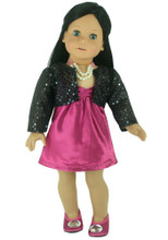 4 Piece 18 inch Doll Dress Set with Shoes fits American Doll Dresses
