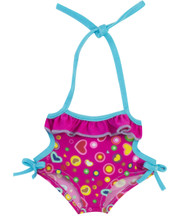 "Fuschia Monokini Bathing Suit For 15"" Baby Dolls"