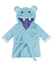 "Hooded Hippo Bath Robe fits 15"" Baby Dolls"