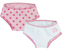 2 Pack Heart Print Underwear fits American Girl Accessories