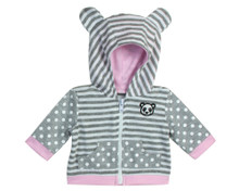"Panda Hooded Sweatshirt For 15"" Dolls"