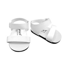 "White Strappy Sandal fits 18"" Dolls American Girl Shoes"