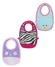 "Baby Doll Bib 3 Pack  For 15"" Baby Dolls"
