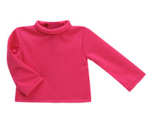 "18"" Doll  Hot Pink Turtleneck Shirt fits the American Girl Doll"