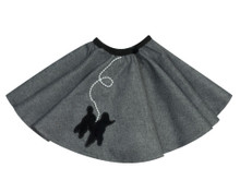 "Gray Skirt fits 18"" Dolls"