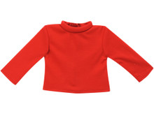 18 inch doll Turtleneck in Red fits the American Girl Doll