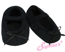 Black Ballet Slippers fits American Girl Doll Shoes