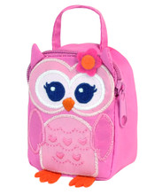"18"" Doll Zippered  Pink Lunch Bag with Owl Design for American Dolls Accessories"