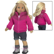 18in Doll Winter Jacket Hot Pink Nylon Jacket fits American Girl