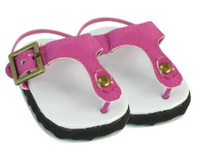 Patent Thong Sandals For 18 Inch Dolls